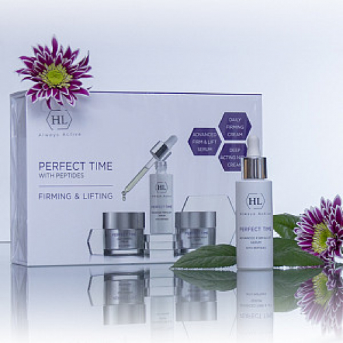 Holy Land PERFECT TIME KIT  Набор: PERFECT TIME ADVANCED FIRM & LIFT SERUM 30 мл, PERFECT TIME DAILY FIRMING CREAM 50 мл, PERFECT TIME DEEP ACTING NIGHT CREAM 50 мл