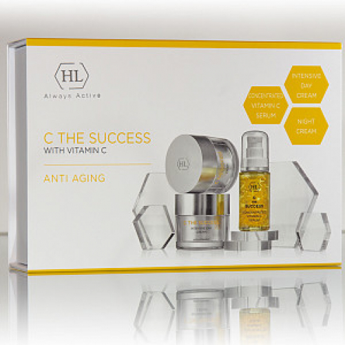 Holy Land C the SUCCESS KIT    CONCENTRATED VITAMIN C SERUM 30 ml, C THE SUCCESS INTENSIVE DAY CREAM 50 ml, C THE SUCCESS CREAM 50 ml.